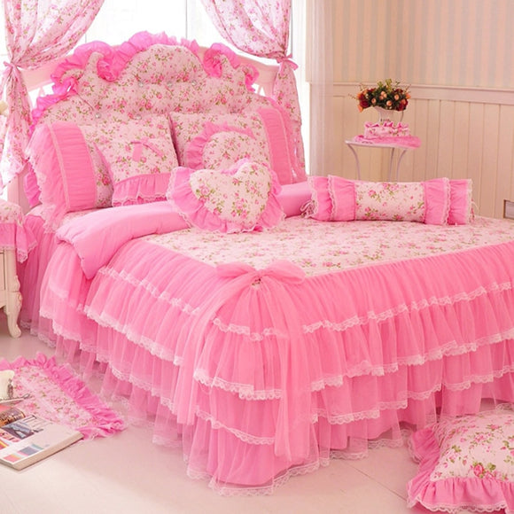 Pink Lace bedspread bedding set
