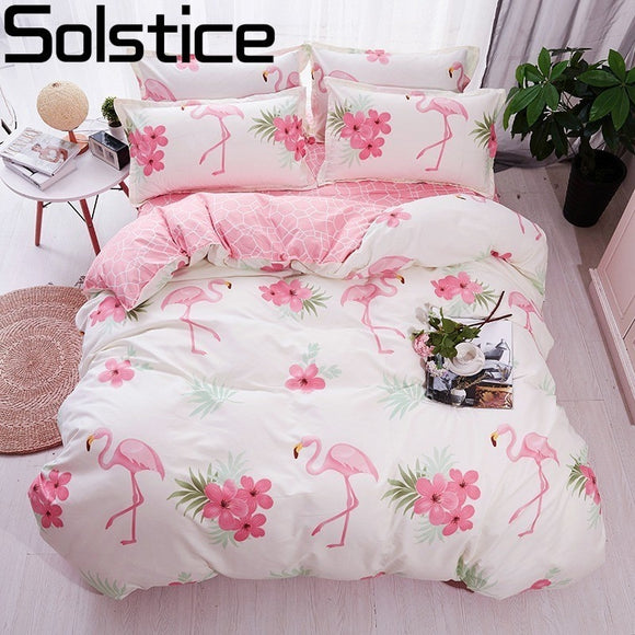 Flamingo Cartoon Bedding Duvet Set