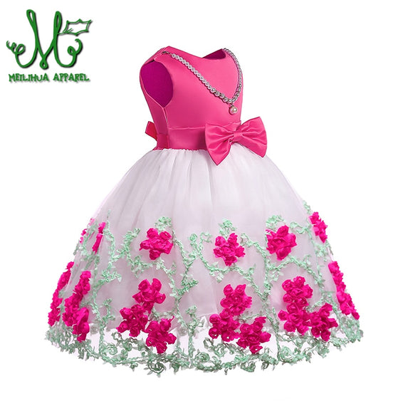 Spring and Summer Embroidered Girls Dress