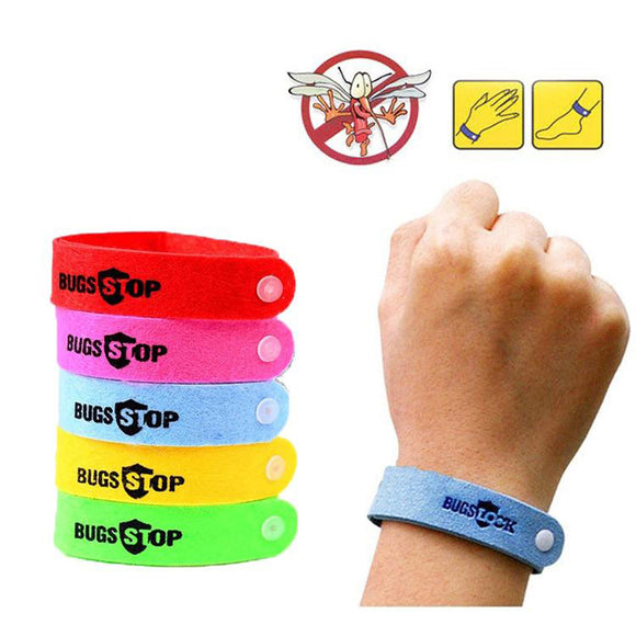 20pcs Colorful Bracelet Anti Mosquito Insect Repellent