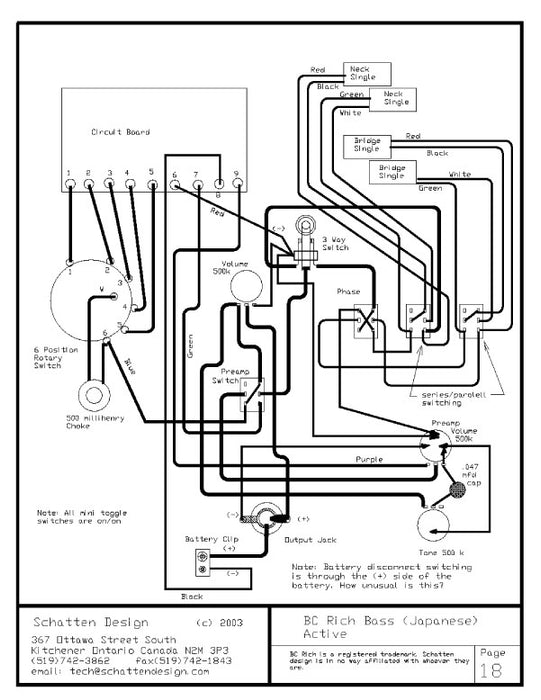 Book Of Standard Wiring Diagrams — Schatten PickupsSchatten Pickups