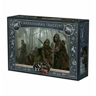 Front cover of the box of A Song of Ice & Fire Crannogman Trackers