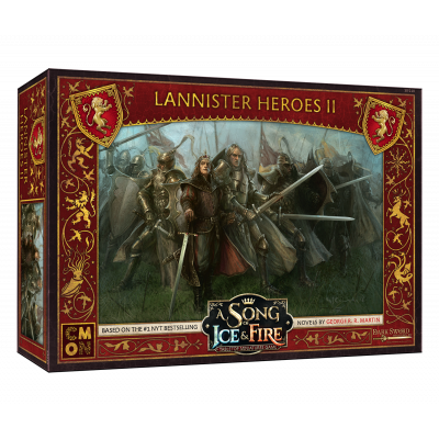 Front cover of the box of A Song of Ice & Fire Lannister Heroes II