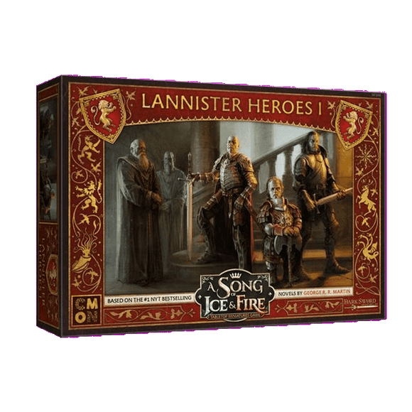 Front cover of the box of A Song of Ice & Fire Lannister Heroes I