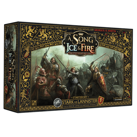 Front cover of the box of A Song of Ice & Fire Starter Set Stark vs Lannister