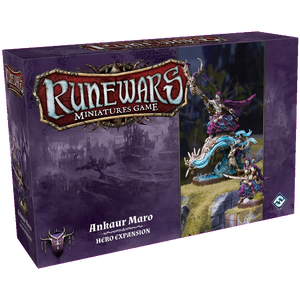 Front cover of the box of RuneWars Ankaur Maro Hero Expansion
