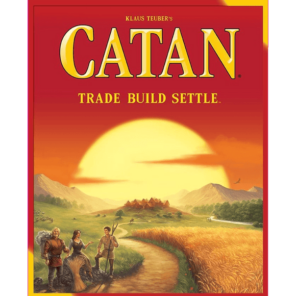 Front cover of the box of Catan