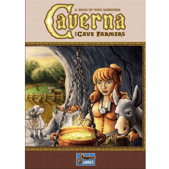 Front cover of the box of Caverna: The Cave Farmers