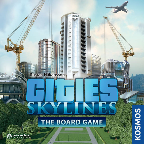 Front cover of the box of Cities: Skylines The Board Game