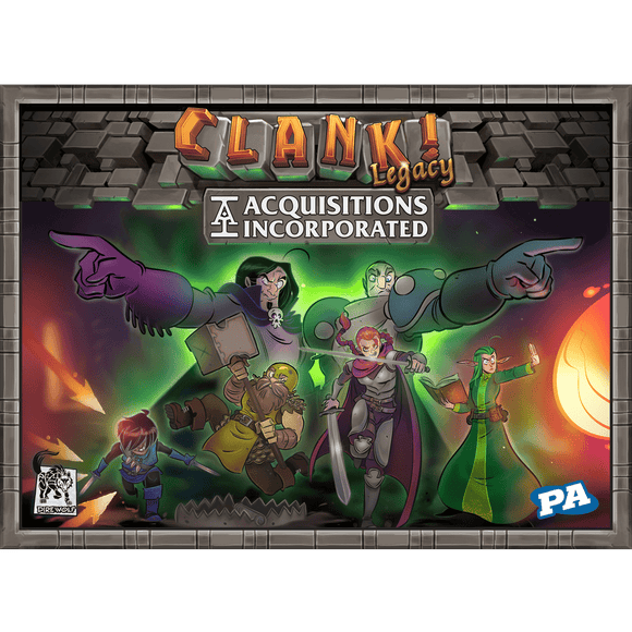 Front cover of the box of Clank! Legacy: Acquisitions Incorporated