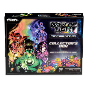 Front cover of the box of DC Comics Dice Masters - War of Light Collectors Box