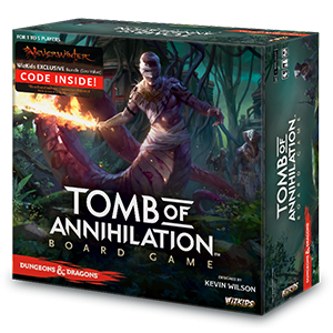 Front cover of the box of D&D Tomb Of Annihilation Board Game Premium Edition