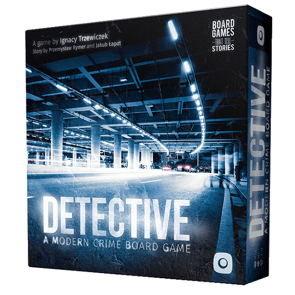 Front cover of the box of Detective: A Modern Crime Game