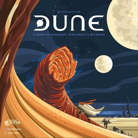 Front cover of the box of Dune
