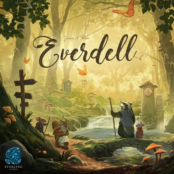 Front cover of the box of Everdell