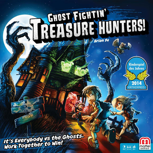 Front cover of the box of Ghost Fightin' Treasure Hunters!