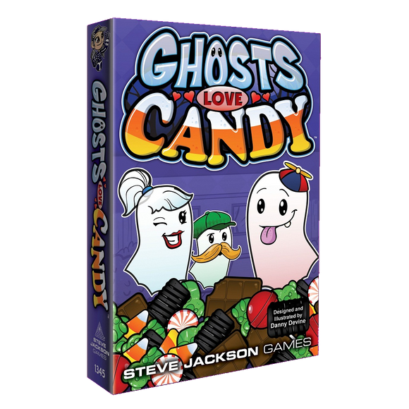 Front cover of the box of Ghosts Love Candy