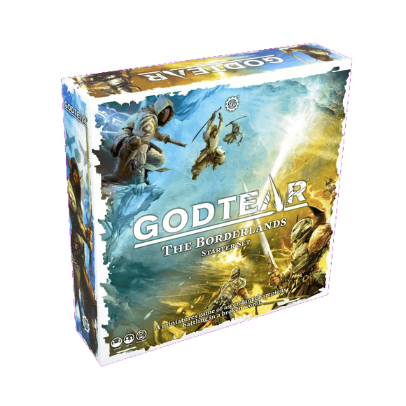 Front cover of the box of Godtear: The Borderlands Starter Set
