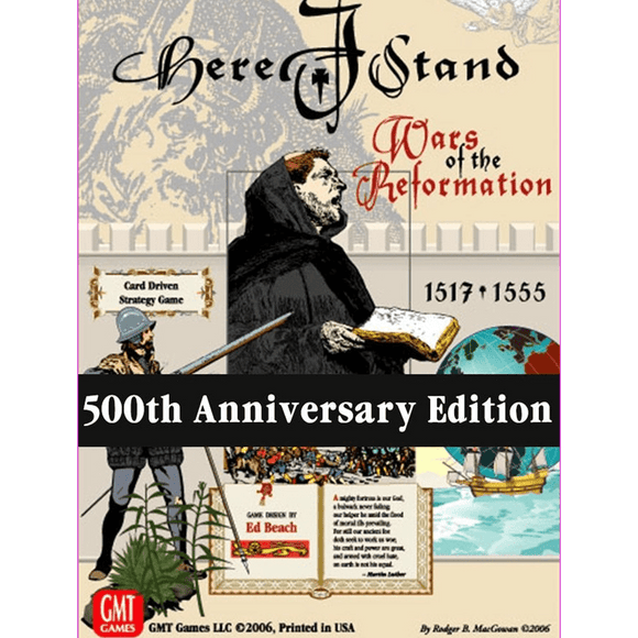 Front cover of the box of Here I Stand: Wars of the Reformation 1517-1555 (500th Anniversary Edition)