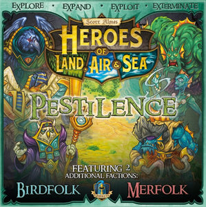 Front cover of the box of Heroes of Land, Air & Sea: Pestilence Expansion