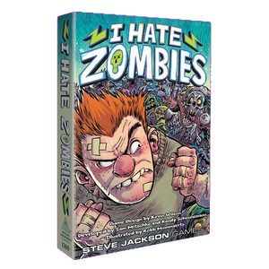 Front cover of the box of I Hate Zombies