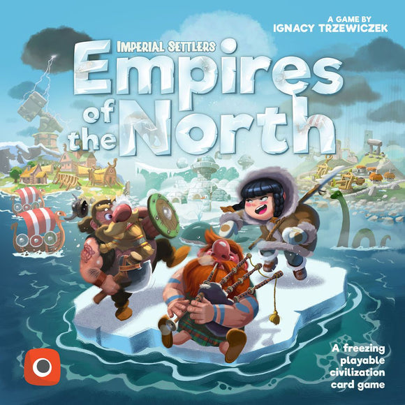 Front cover of the box of Imperial Settlers: Empires of the North