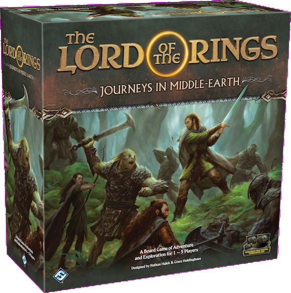 Front cover of the box of Lord of the Rings Journeys in Middle-Earth