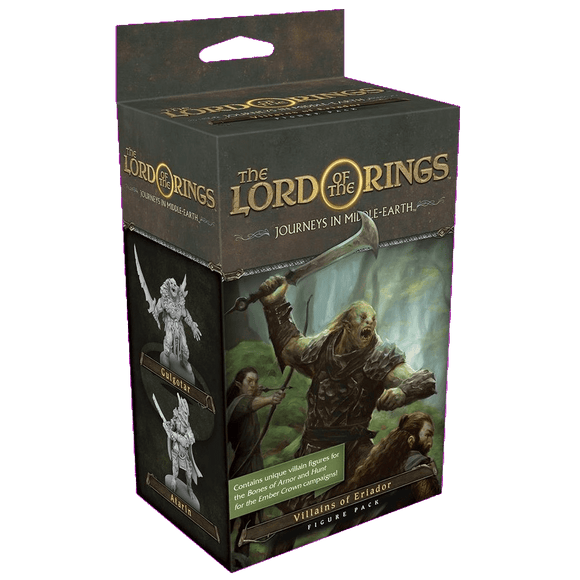 Front cover of the box of Lord of the Rings Journeys in Middle-Earth Villains of Eriador Figure Pack