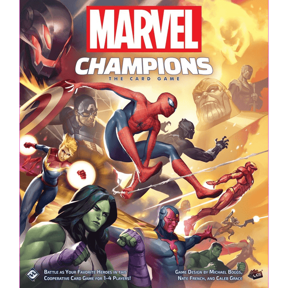 Front cover of the box of Marvel Champions: The Card Game