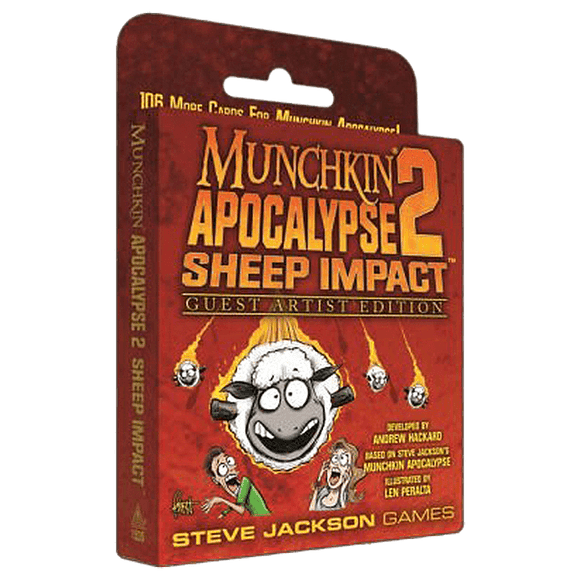 Front cover of the box of Munchkin Apocalypse 2 Guest Artist Len Peralta