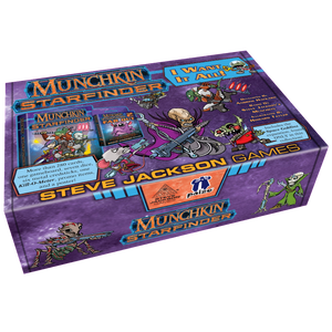 Front cover of the box of Munchkin Starfinder I Want It All