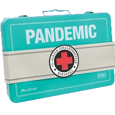 Front cover of the box of Pandemic 10-jarige Jubileumeditie