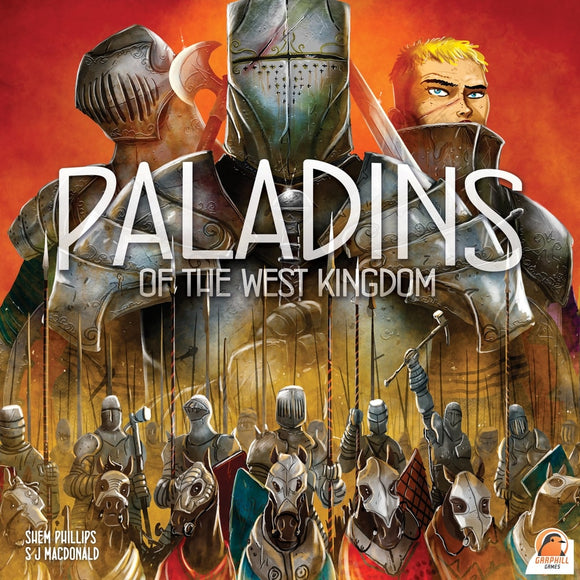 Front cover of the box of Paladins of the West Kingdom