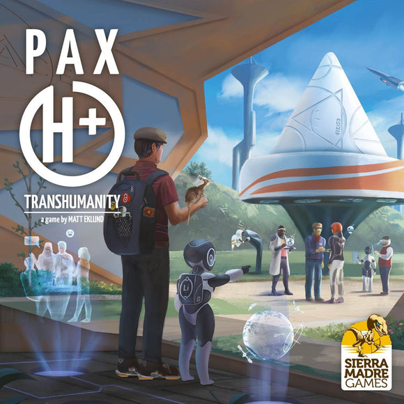 Front cover of the box of Pax Transhumanity (with Pax Porfiriana / Pax Transhumanity folding board)
