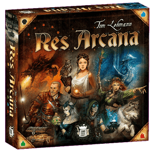 Front cover of the box of Res Arcana