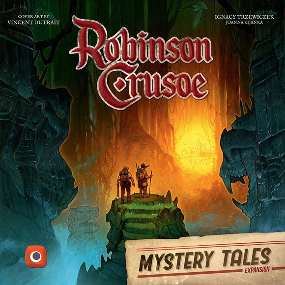 Front cover of the box of Robinson Crusoe: Adventures on the Cursed Island: Mystery Tales Expansion