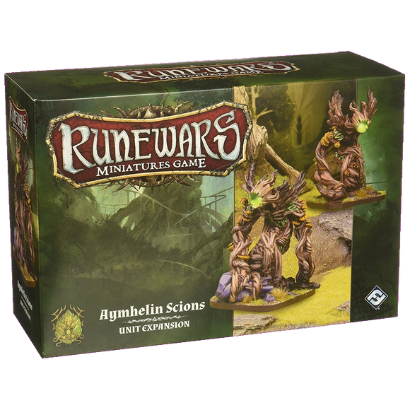 Front cover of the box of RuneWars Aymhelin Scion Unit Expansion