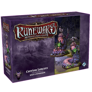 Front cover of the box of RuneWars Carrion Lancers Unit Expansion