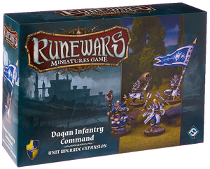 Front cover of the box of RuneWars Daqan Infantry Command Unit Expansion