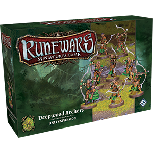 Front cover of the box of RuneWars Deepwood Archers Unit Expansion