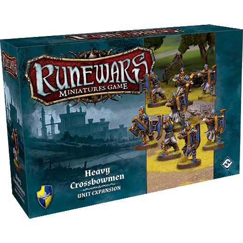 Front cover of the box of RuneWars Heavy Crossbowmen Unit Expansion