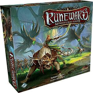 Front cover of the box of RuneWars Latari Elves Army Expansion
