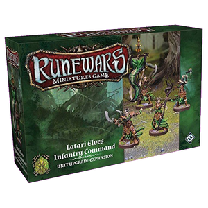 Front cover of the box of RuneWars Latari Elves Infantry Command Unit Upgrade Expansion