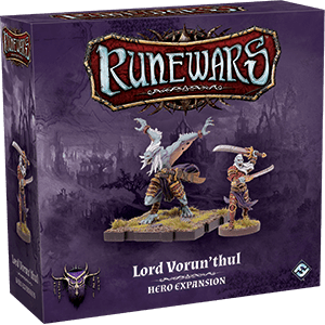 Front cover of the box of RuneWars Lord Vorun'thul Hero Expansion