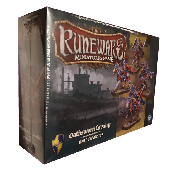 Front cover of the box of RuneWars Oathsworn Cavalry Unit Expansion