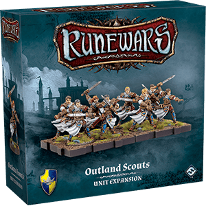 Front cover of the box of RuneWars Outland Scouts Unit Expansion