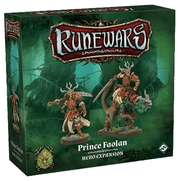 Front cover of the box of RuneWars Prince Faolan Hero Expansion