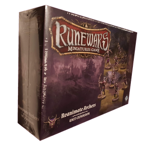 Front cover of the box of RuneWars Reanimate Archers Unit Expansion
