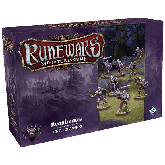 Front cover of the box of RuneWars Reanimates Unit Expansion