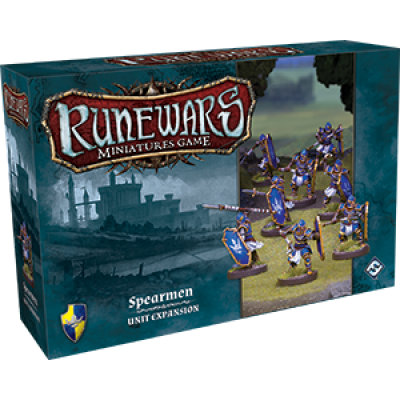 Front cover of the box of RuneWars Spearmen Unit Expansion